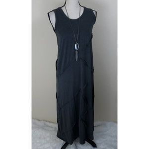 Chelsea & Theodore Gray Maxi Dress Size M